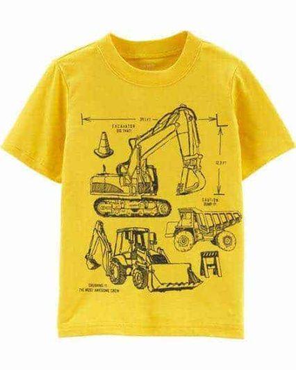 Áo thun Carter's Construction nhập khẩu Mỹ