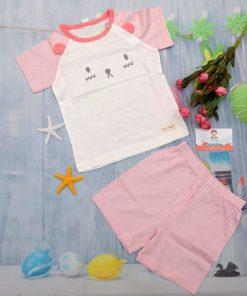 Quần áo xuất Hàn cho bé trai TheMinou hồng