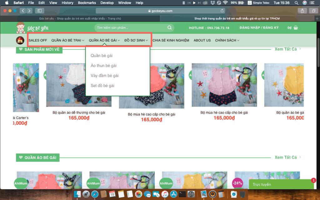 Shop quần áo thời trang trẻ em cao cấp Hàn Quốc góc bé yêu