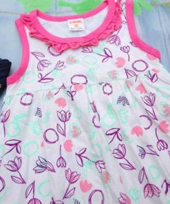 Đầm Bé Gái Xuất Dư Giá Rẻ Gymboree Hoạ Tiết Hoa Lá
