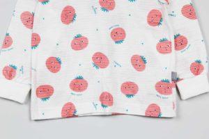 Bộ quần áo trẻ em nhập khẩu Hàn Quốc họa tiết cà chua ngộ nghĩnh. Sản phẩm đã đượcshop Góc Bé Yêunhập khẩu