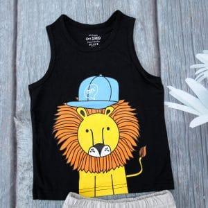 Bộ quần áo bé trai họa tiết sư tử siêu ngầu