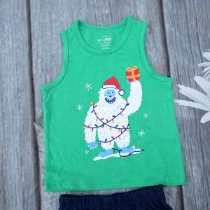 Bộ quần áo bé trai họa tiết người tuyết