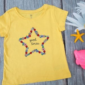 Áo thun bé gái họa tiết ngôi sao