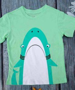 Áo thun bé trai họa tiết cá mập