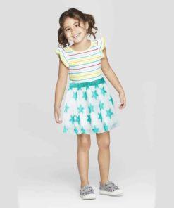 Bí kíp mặc chân váy xòe siêu đẹp cho bé