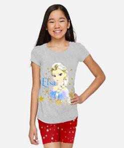 Bộ quần áo bé gái Disney họa tiết Elsa