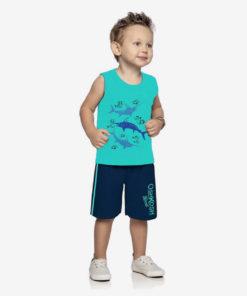 Bộ quần áo bé trai Oshkosh họa tiết biển cả