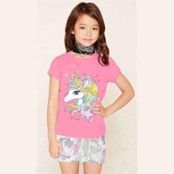 Bộ quần áo bé gái Disney ngựa Pony hồng