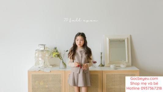 Một số mẫu quần áo thu đông cho bé gái tại Góc bé yêu