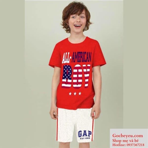 Bộ quần áo bé trai 8 tuổi All-American
