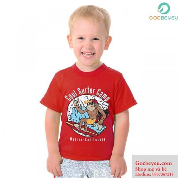 Bộ quần áo cho bé trai 2 đến 6 tuổi (màu đỏ)