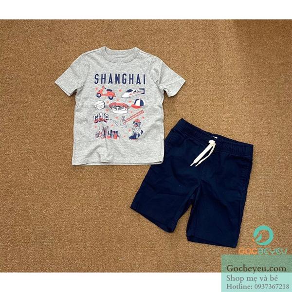 Bộ quần áo bé trai 4 tuổi