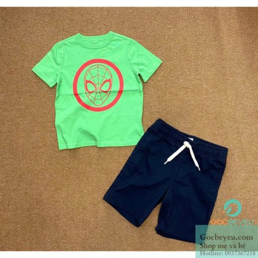 Bộ quần áo bé trai size cao cấp họa tiết người nhện