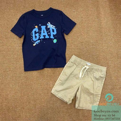Bộ quần áo bé trai 7 tuổi Gapkids họa tiết phi hành gia