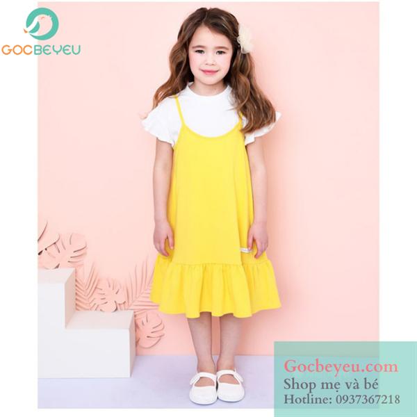 Đầm thun cao cấp cho bé gái 10 tuổi