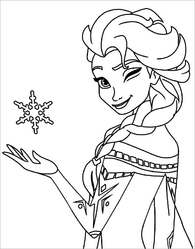 50 mẫu tranh tô màu công chúa Elsa được yêu thích nhất